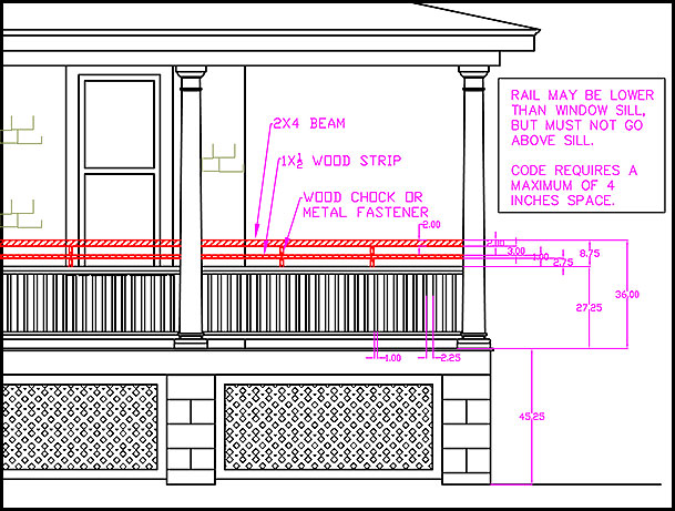 Building Code Your Rail Height Must Be 36 Inches Or More There