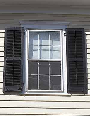 All about exterior window shutters oldhouseguy blog for Vinyl vs wood exterior shutters