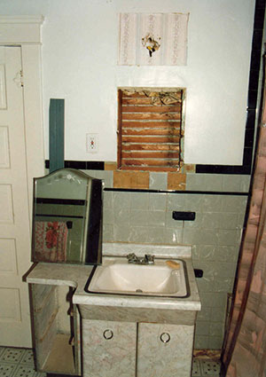 Bathroom before restoration