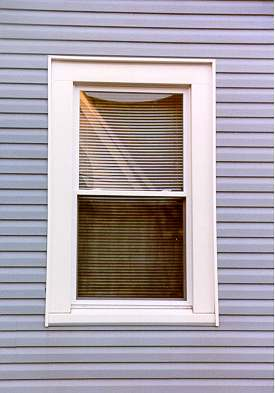 window with vinyl siding