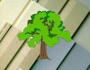 vinyl sided tree