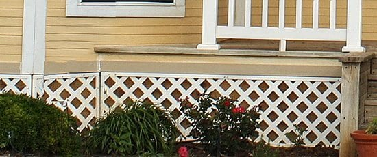 Bad porch skirt - porch apron design.