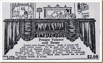 1927 valance portiere