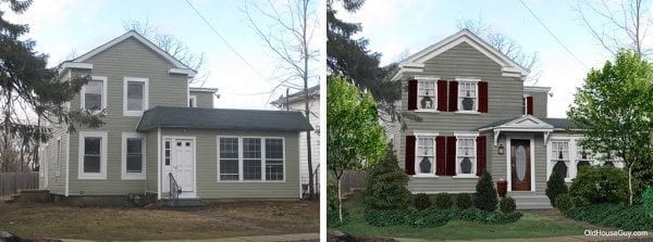 Before and after of an Old House Renovation