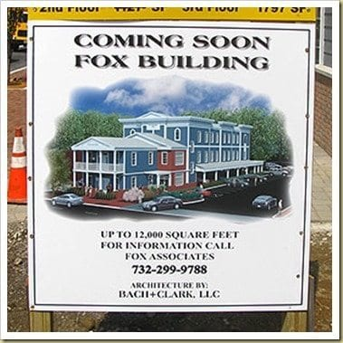 Fox building destroyed Freehold history