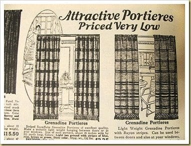 Portieres sears roebuck catalog 1927