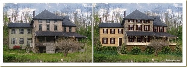 abandoned house restoration before and after