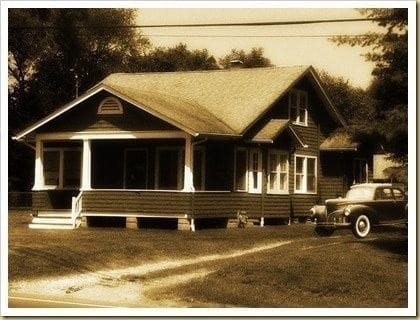 historic bungalow then and now
