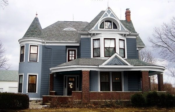 Exterior paint colors Victorian house front