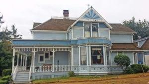 blue victorian paint