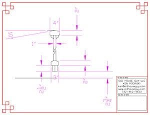 CAD drawing to guide contractor.