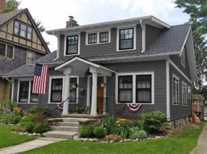 charcoal gray craftsman paint