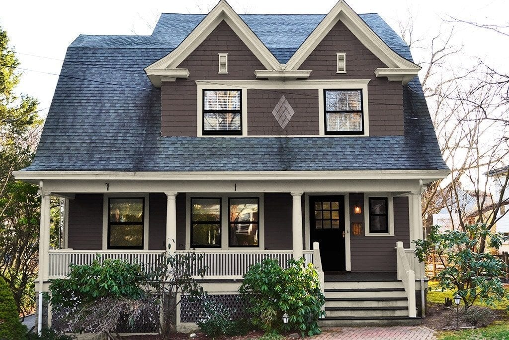 Exterior paint colors consulting for old houses sample for Modern colonial home exterior