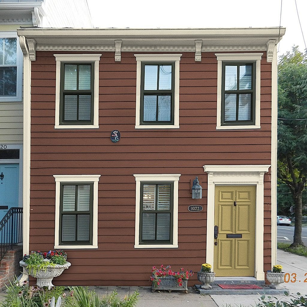 Improve curb appeal before after photos for Transition windows for homes