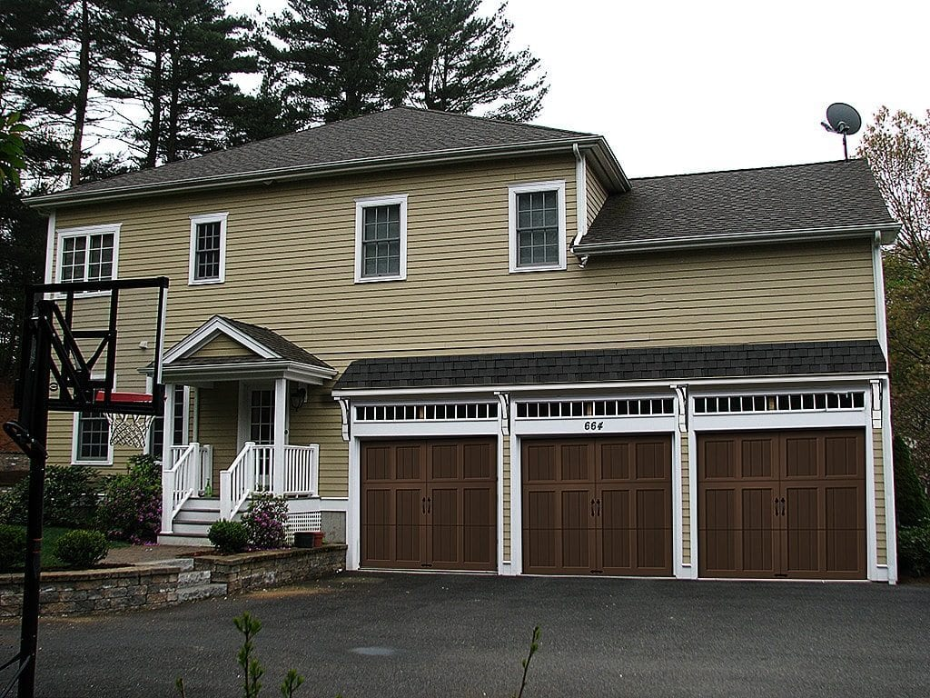 Improve curb appeal before after photos for Garage overhang