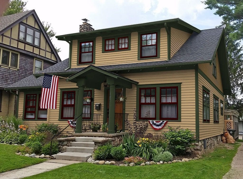Exterior paint colors craftsman style homes home design for Craftsman exterior color schemes
