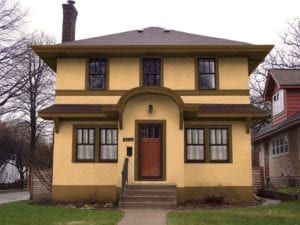 prairie style paint scheme - Exterior House Colors Brown