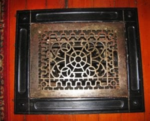 heat register for old gravity furnace