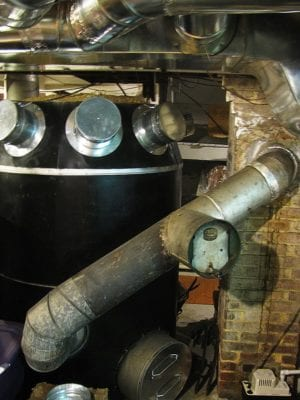 Old octopus furnace ducts replaced and capped off