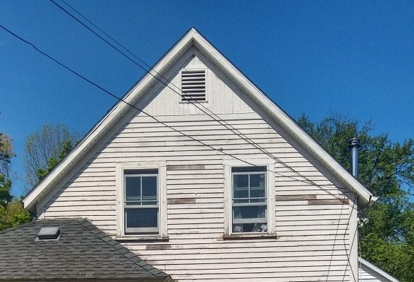 wood condition after removing vinyl siding
