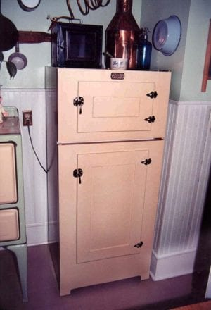 antique icebox conversion