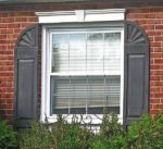 plastic arched window shutters