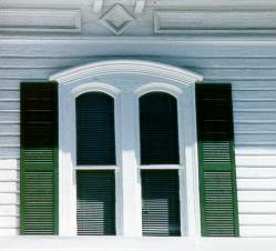 double arched shutters should be on arched windows