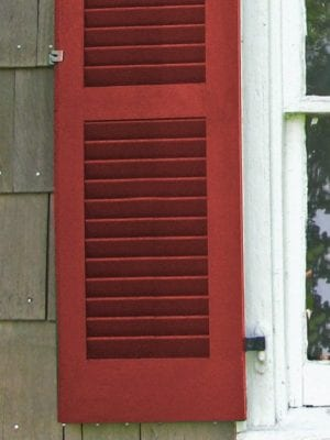fixed louver shutters without tilt bar wood