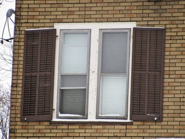 double shutters for large window