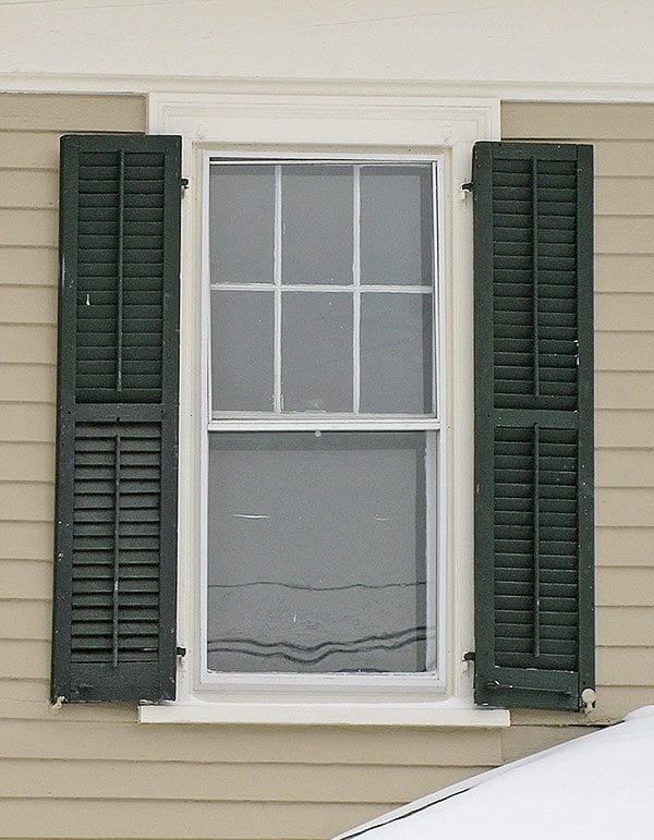 All about exterior window shutters oldhouseguy blog for Exterior louvered window shutters
