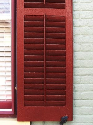 operable louver shutters red shutters tilt bar