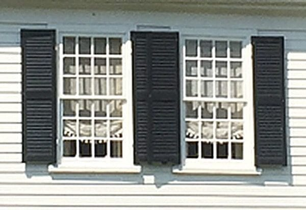 overlapping shutters 18th century house
