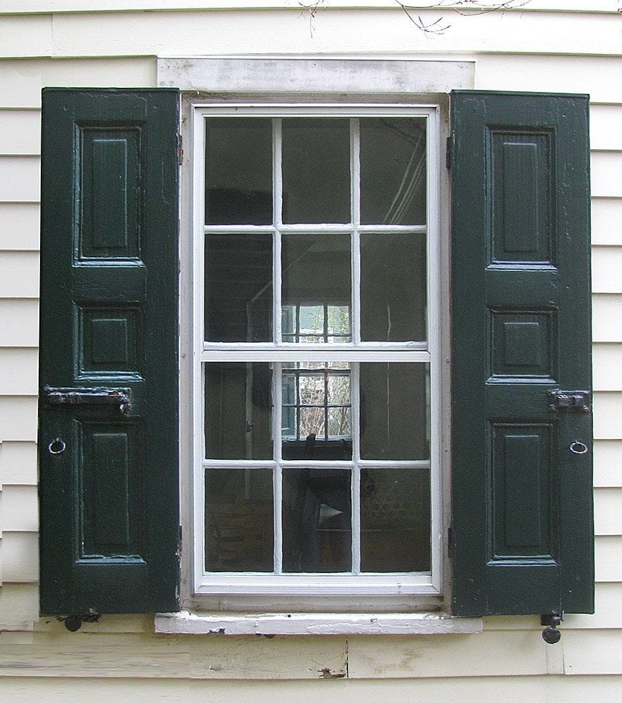 Exterior Home Windows bow bay windows Historic Raised Panel Shutters And Shutter Hardware