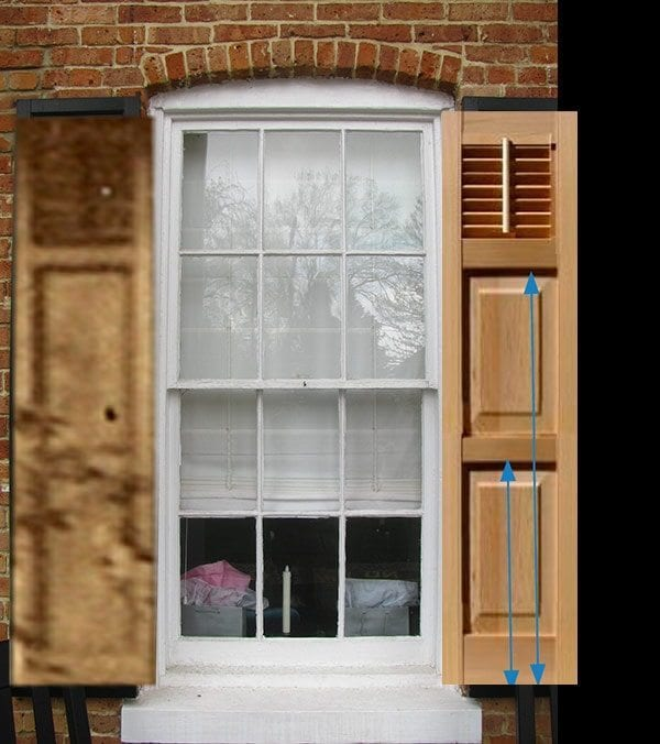 All about exterior window shutters oldhouseguy blog for Narrow windows for sale