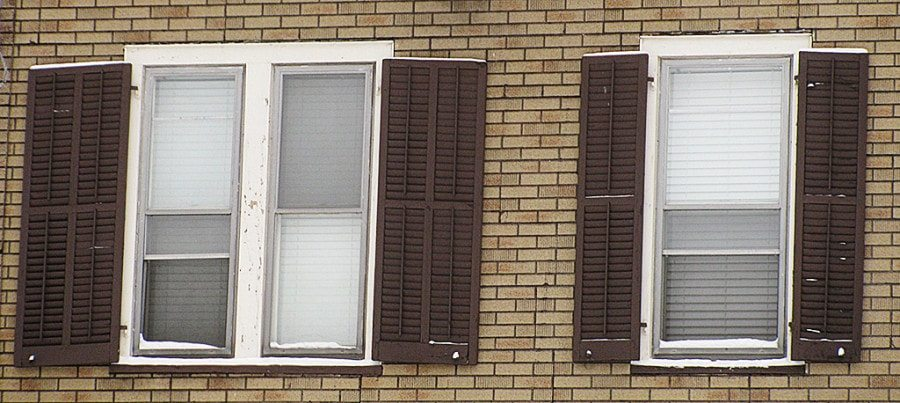 real wood double shutters for different sized windows