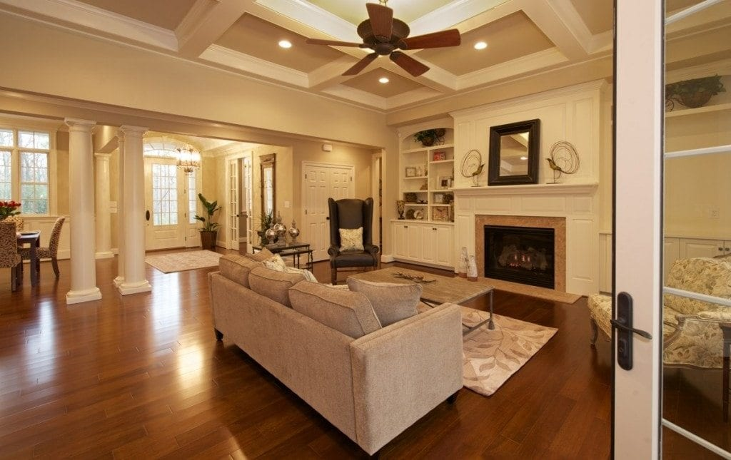 Great Room Flooring Ideas Part - 16: Open Floor Plans Living Room