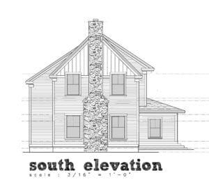 corrected house elevation