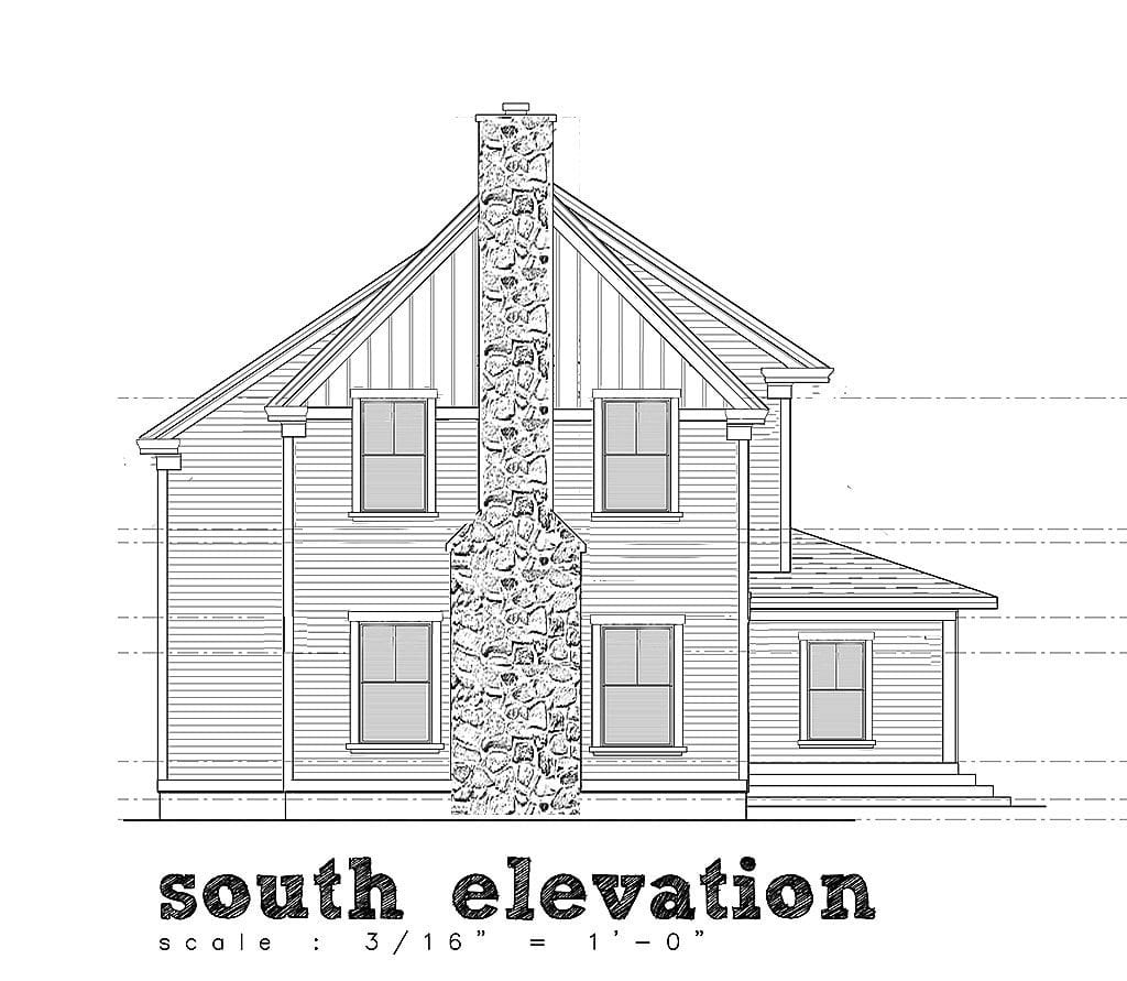 home design elevation drawing