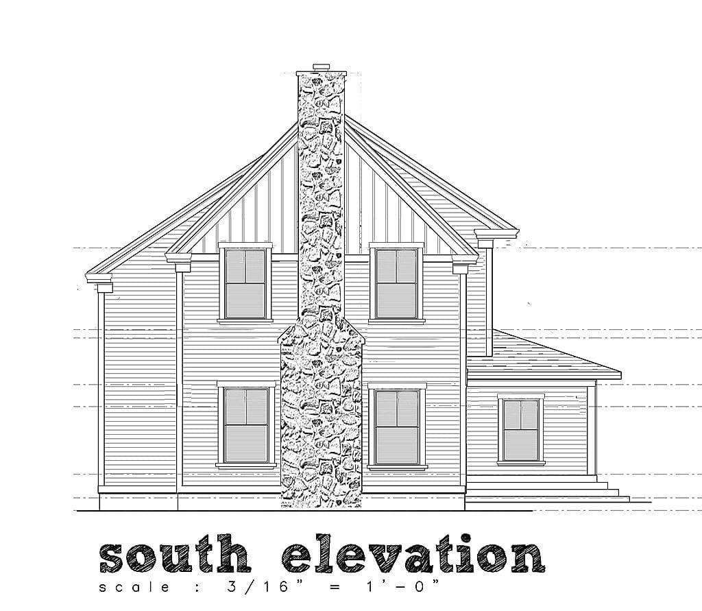 home design elevation drawing