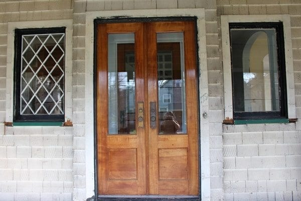 craftsman double door entrance
