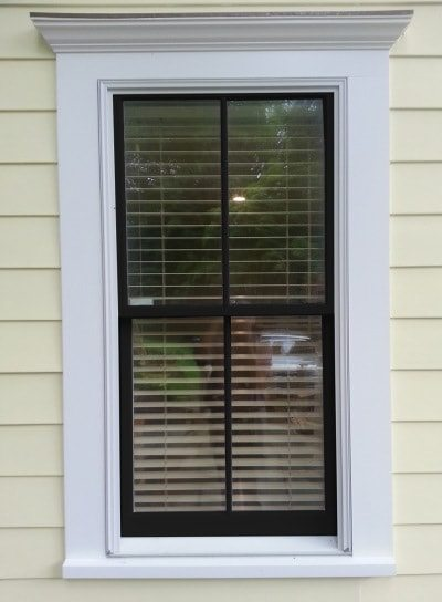 black window sash