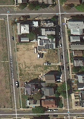 Google Earth view. Ground is cleared for new construction.