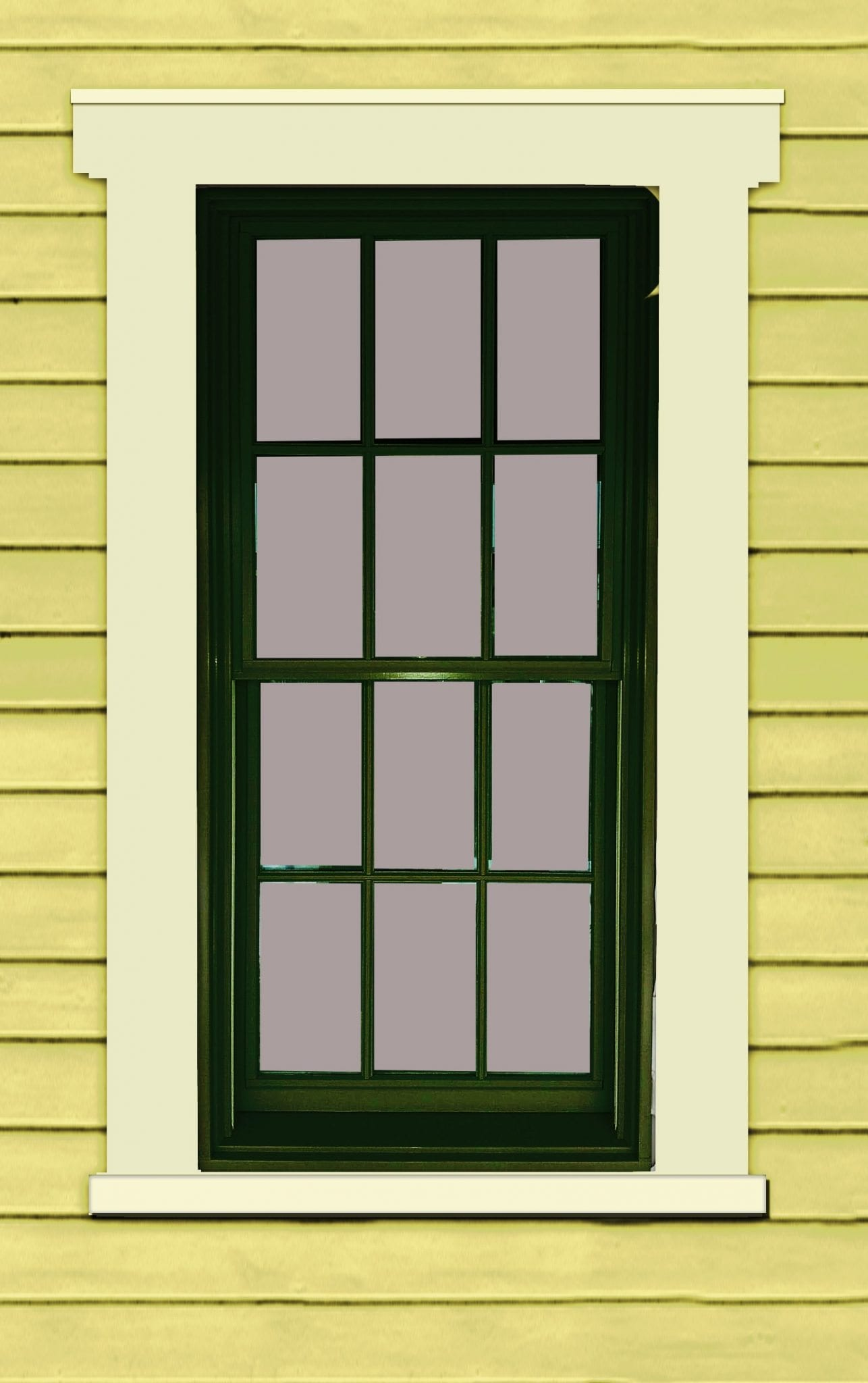 Painting windows color placement mistakes for Anderson vinyl windows