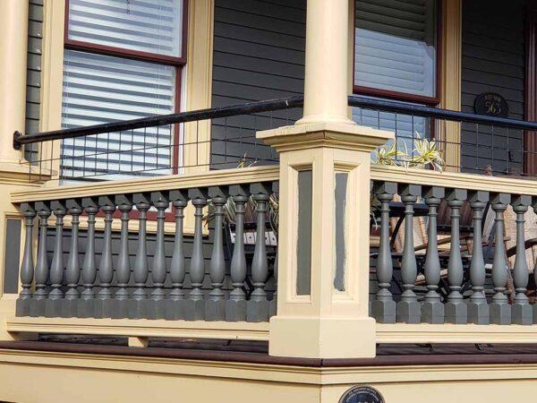 historic railing to code