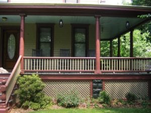 low porch balustrade designs
