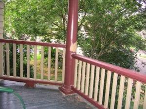 porch rail height