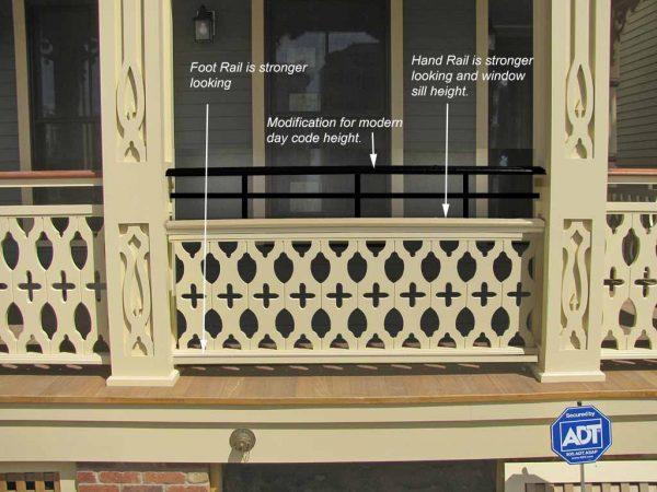porch rail height fix railing code height