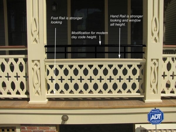 porch railing height