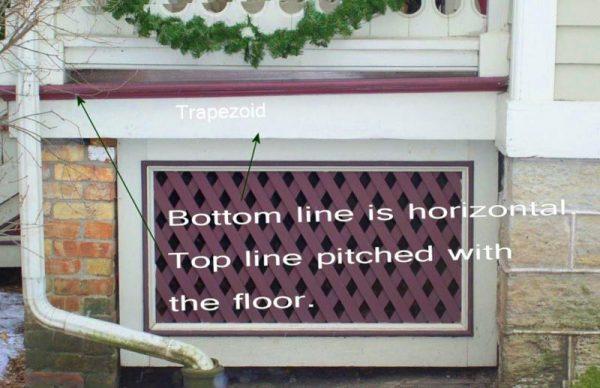 porch skirt angled porch floor fascia board