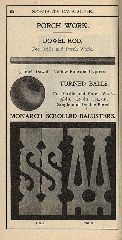 sawn balusters